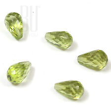 Light Green Natural Chinese Peridot 5x8 mm Faceted Teardrop 4pcs loose gemstone