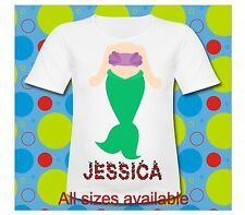 Personalized Little Mermaid T Shirt All Sizes T Shirt Ariel Shirt Mermaid Body T