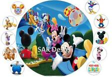 7 inch Mickey Mouse  Cake and 10 cup cake topper on Edible Rice Paper