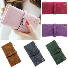 Women Ladies Leather Long Bifold Purse Zipper Clutch Handbag Wallet Card Holder