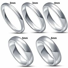 925 sterling silver solid comfort fit plain wedding band