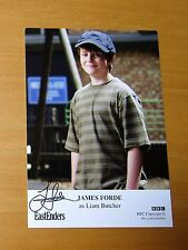 EASTENDERS JAMES FORDE LIAM BUTCHER SIGNED BBC CAST CARD FREE P&P