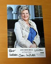 EASTENDERS ANN MITCHELL CORA CROSS HAND SIGNED BBC CAST CARD FREE P&P