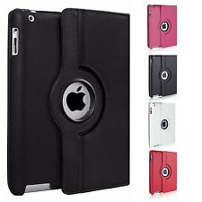Leather 360 Degree Rotating Smart Stand Case Cover For Apple ipad 4 3 2 Mini Air