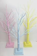 GISELA GRAHAM EASTER PASTEL PINK BLUE YELLOW TWIG TREE ORNAMENT 70cm