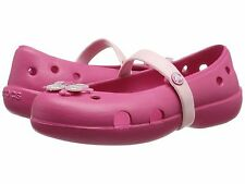 Crocs Kids Keeley Springtime Flat PS Raspberry/Petal Pink Little Girls Size 8, 9