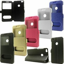 Luxury Flip PU Leather View Window Stand Phone Case Cover For Huawei Ascend P10