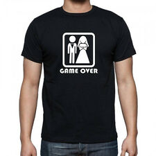 GAME OVER STAG PARTY men's funny t-shirt size S-XXL wedding top gift present