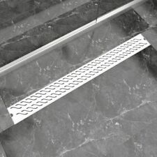 Linear Floor Shower Drain Wetroom Bathroom Channel Wave Stainless Steel 6 Sizes