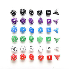 D4 D6 D8 D10 D12 D20 Dice Set for Dungeons and Dragons Game and D&D Game ESCA