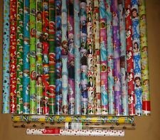 .HARD TO FIND GIFT WRAP WRAPPING PAPER ROLLS
