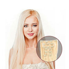"""Blonde #613 7pcs 70gram Straight Remy Human Hair Clip in Hair Extensions14-20"""""""