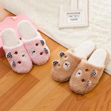 Women Lovely Bear Soft Sole Cotton-padded Slippers Winter Indoor Shoes Perfect