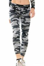New Ladies Army Grey Printed Full Length Stretchy Skinny Slim Fit Leggings Pants