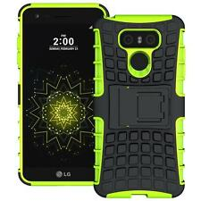 For LG G6 Tough Hybrid Armor Shockproof Protective Box Kickstand Hard Case Green