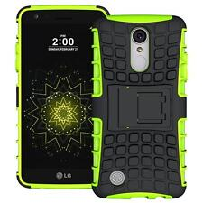 LG LV3/MS210/Aristo Hybrid Armor Shockproof Protective Box Kickstand Case Green