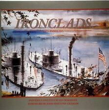 """MARSHALL """"IRONCLADS AND PADDLERS"""" 1993 1ST HC/DJ NF/VG+ 38 NAUTICAL PAINTINGS!"""
