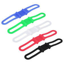5pcs Silicone Rubber Bike Bicycle Holder Mount Tie Strap Elastic Bandage BS
