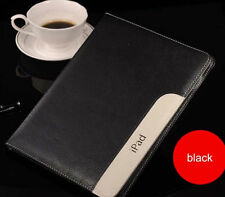 Black Color Luxury Hight Leather Smart Stand Case Cover for Apple ipad air2