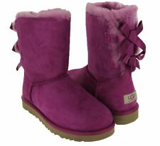 NIB Authentic UGG Australia Bailey Bow Sheepskin Boots 1002954 VPNK Pink $205