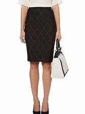 Pied a Terre Black Skirt size 8 10 Stretch Scuba Straight Pencil Smart Work New