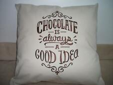 PERSONALISED CUSHION COVER DAMASK ROSE OR CHOCOLATE DESIGNS 45*45 CM FREE P&P