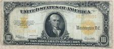 1922 $10 Ten Dollar Gold Certificate Large Currency