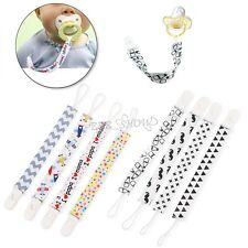 4Pcs Newborn Toddler Baby Dummy Chain Pacifier Clip Holder Soother Nipple Strap