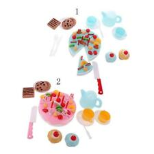 54Pcs Kids DIY Pretend Role Play Kitchen Toy Birthday Cake Food Cutting Toys