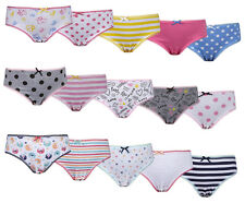 Childrens Girls Assorted 5 Packs Briefs Knickers Sizes 2yrs to 13yrs