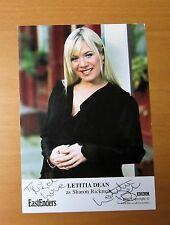 EASTENDERS LETITIA DEAN SHARON RICKMAN MITCHELL HAND SIGNED CAST CARD FREE P&P