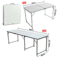 2/4/6 FT Outdoor Folding Trestle Table Dinning/Picnic/Camping/BBQ Banquet/Party