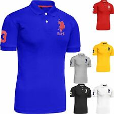 Mens Polo Tshirt Original Top Designer US Polo Assn T-Shirt Short Sleeve Cotton
