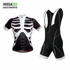 Men's Road Bike Short Sleeve Cycling Jersey and Padded (Bib) Shorts Set S-2XL