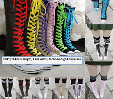 """Shoe laces 3.4m 340cm 134"""" compatible with Converse knee high boots (UK stock)"""
