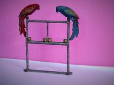 F.G.TAYLOR & SON VERY RARE LEAD ZOO CIRCUS SERIES 2 BEAUTIFUL PARROTS ON A PERCH