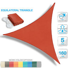 Sun Shade Sail Red Triangle UV Block Outdoor Canopy Patio Lawn Pool Deck Cover