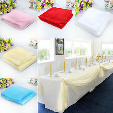 5M*1.35M Charm Table Swags Sheer Organza Fabric DIY Wedding Party Bow Decoration