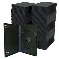 SINGLE  DVD CASE CASES 14MM SPINE STANDARD BLACK CLEAR FRONT COVER SLEEVE QTY