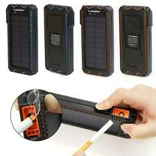 Portable 15000mAH Solar Power Bank Dual USB Battery Charger For Mobile Phone MP3