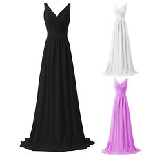 Sexy Woman Chiffon Formal Long Evening Ball Gown Party Prom Bridesmaid Dress New