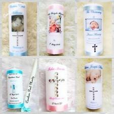 Christening Candle Baptism Gift Baby Boy Girl Present Personalised Cross Birth