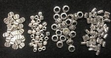 25 Silver Tone Cube Charm Spacer Beads Cute Tiny Spacer Beads Jewelry Findings