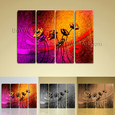 Large Abstract Flower Floral Modern On Canvas Wall Art Giclee Print Living Room