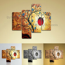 Large Feng Shui Print Abstract Contemporary Painting Living Room Four Panels Art