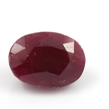 Be You 8.12cts Red Color Faceted Oval Shape Natural African Ruby