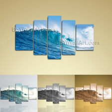 Hd Wall Art On Canvas Print Ocean Waves Contemporary Seascape Picture Home Decor