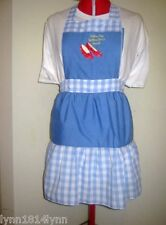 CUSTOMISED WIZARD OF OZ COSTUME CHARACTER APRON MADE 2 ORDER ALL COLORS