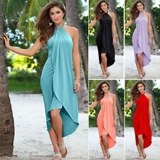 Hot Women Summer Boho Long Maxi Dress Evening Cocktail Party Beach Straps Dress
