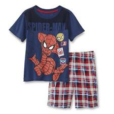 New Marvel Spider-Man Toddler Boy's T-Shirt & Plaid Shorts 3T